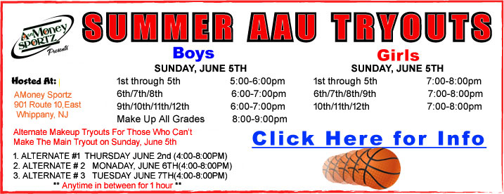 2015 Summer AAU Tryouts