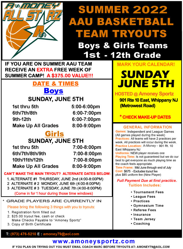 Summer AAU Tryouts
